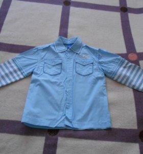 рубашка мальчиковая 100% хлопок