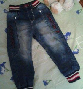 джинсы детские утепленные