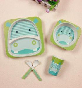 Бамбуковая ЭКО посуда для детей