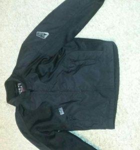 Мото куртка со вставками