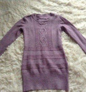 Тёплое уютное платье