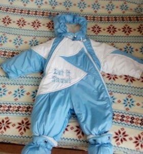 Детский комбинезон зимний, размер от 0 до 74