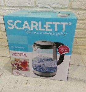 Scarlett SC-EK27G16 Чайник электрический ☝ новый!!