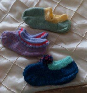 Новые вязаные шерстяные носки