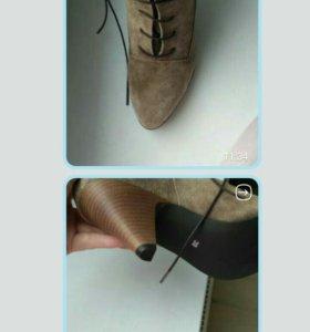 Ботинки замшевые Хейн
