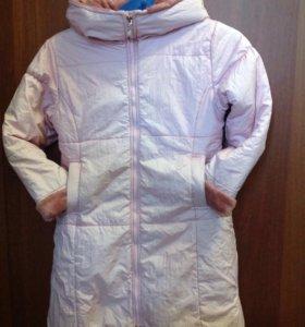 Пальто+шапка для девочки
