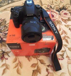 Фотоаппарат Sony alpha 58 + объектив