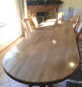 Обеденный стол из «Каштана»-100% массив