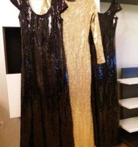 Платье в паетку 42-46р.