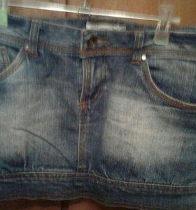 Юбка джинсовая короткая