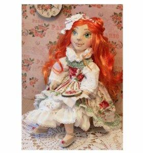 Кукла авторская текстильная коллекционная