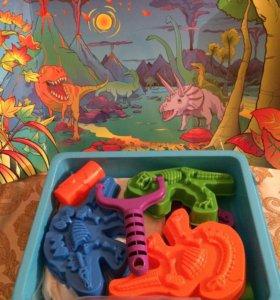Набор кинетический песок с игрушками
