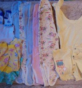 Пакет вещей для малышки 56-62р