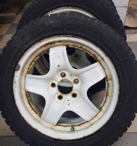 Резина вместе с дисками R16 205 55 на Opel.