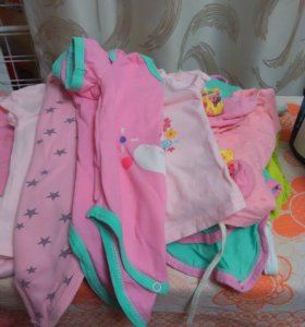 Вещи на новорожденную девочку пакетом