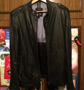 Новая мужская кожаная куртка осень-весна.
