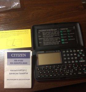 Калькулятор с банком памяти Citizen RX-4100