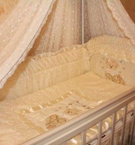 Комплект постельного в кроватку Золотой гусь