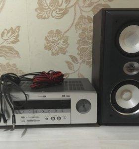 Ресивер Yamaha колонка Sony