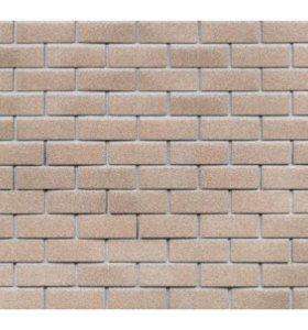 HAUBERK фасадная плитка, Мраморный кирпич