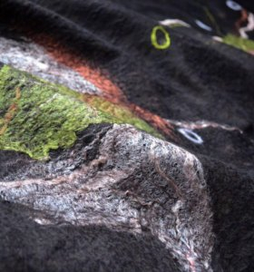 Валяный шерстяной палантин шарф Шоколад
