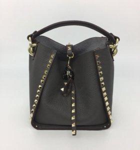 👛 Valentino кожаная сумка , серая новая