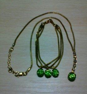 Набор ожерелье и браслет