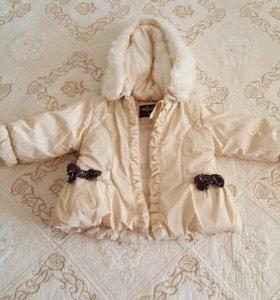 Продам куртку для девочки демисизоную