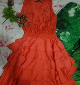 Красивое красное платье, новое LOVE REPUBLIC