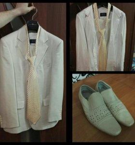 Костюм, туфли, рубашка