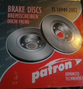 Комплект новых задних тормозных дисков