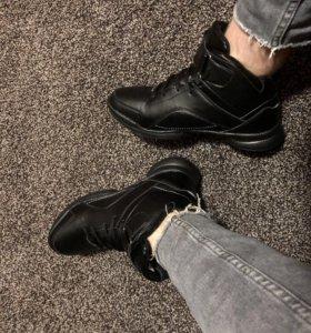 Мужские ботинки новые Ecco зимние с мехом