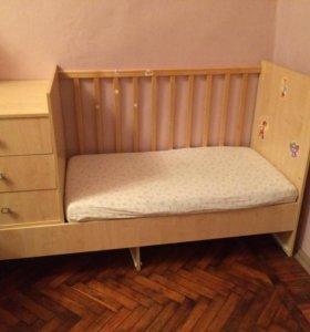 Кровать-трансформер Фея с матрасом