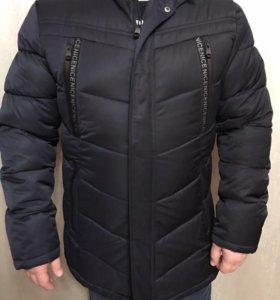 Куртка мужская зимняя новая с натуральным мехом