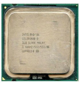 Процессор Intel Celeron D 360 Socket-775 Tray