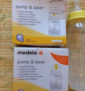 Пакеты для сбора грудного молока meleda