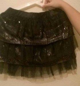 Нарядная юбка на девочку, фатин и пайетки