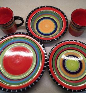 Новый набор посуды Мексика 8 предметов