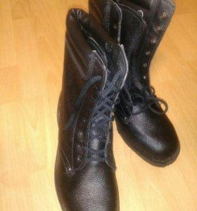 Берцы из  натур. кожи от 44 до 46 новые ботинки