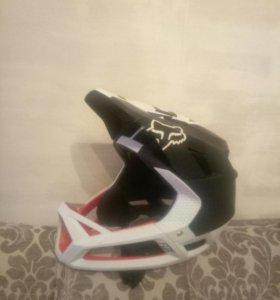 Шлем Fox carbon черно-белый
