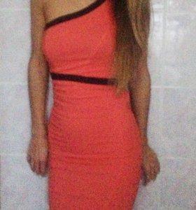 Персиковое платье в обтяжку «miss selfridge»