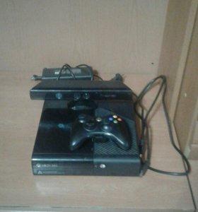 Xbox 360+Kinect+геймпад+1 игра