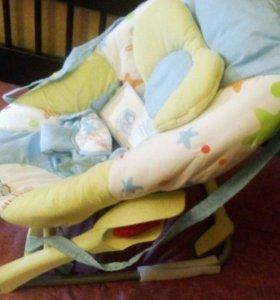 Детское кресло качалка шезлонг