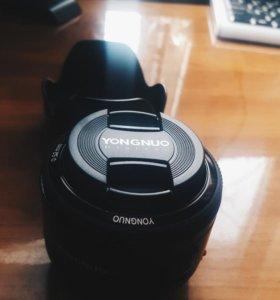 Объектив YongNuo 50 mm, для canon