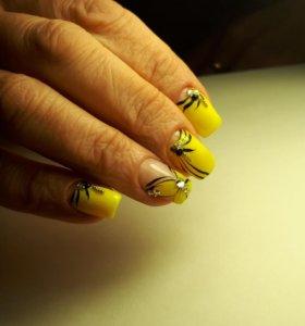 Покрытие ногтей гелем, коррекция
