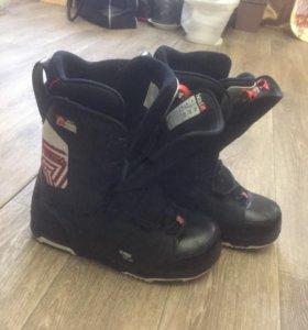 Сноуборд ботинки и крепление