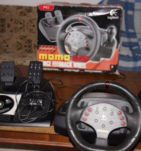 Руль и педали для пк и Ps 3 Logitech Momo Racing