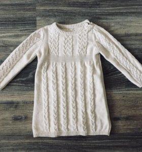Платье шерстяное (86-92)