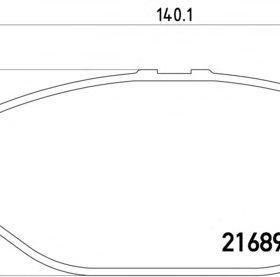 Колодки передние Toyota HIACE/HILUX/TACOMA II