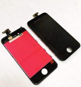 Дисплей для iPhone 4 с тачскрином, белый/чёрный
